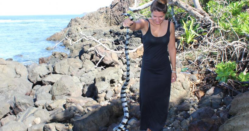 Wendy with the sea snake
